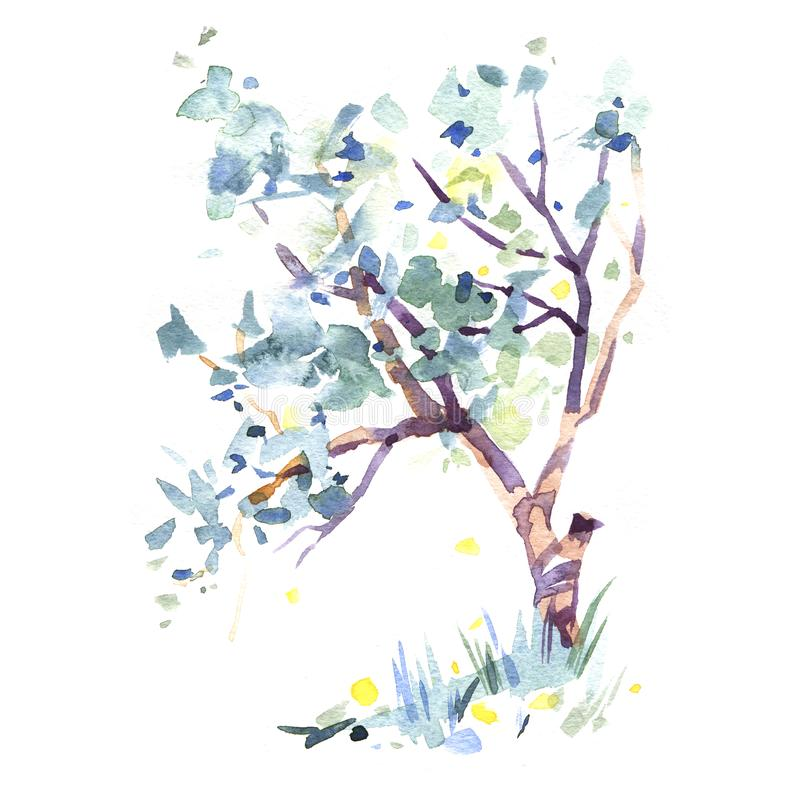 Hand drawn apple blooming tree. It`s perfect for wedding cards and invitations, mothers day and birthday card. Valentines card royalty free stock photography