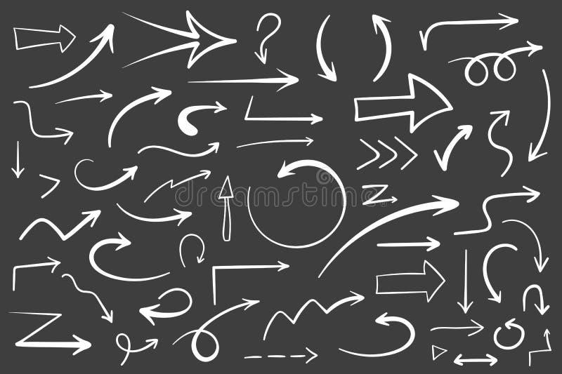 Hand Drawn Arrows vector illustration
