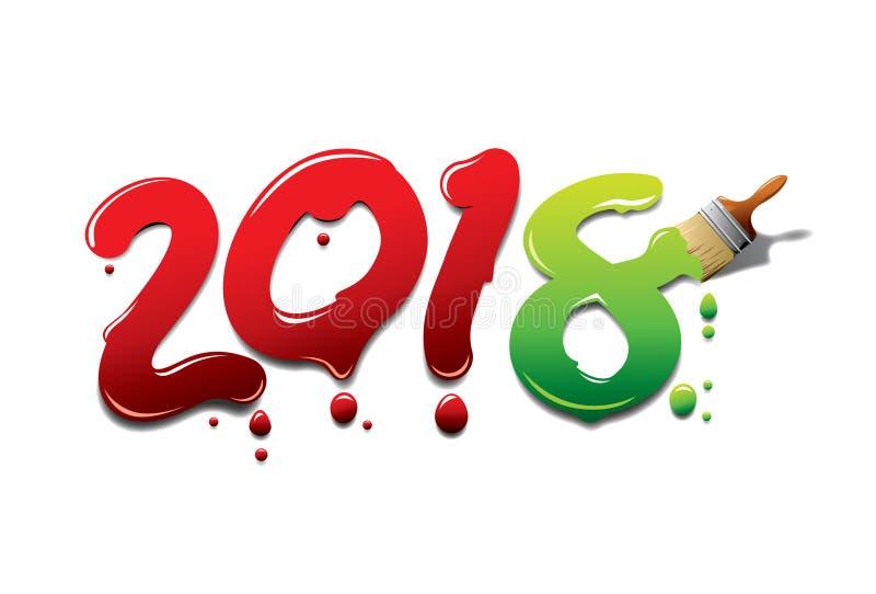 New year paint brush stock illustration