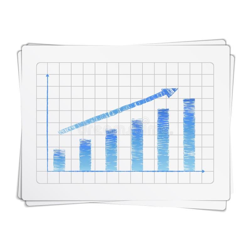 Hand Drawn Bar Graph vector illustration