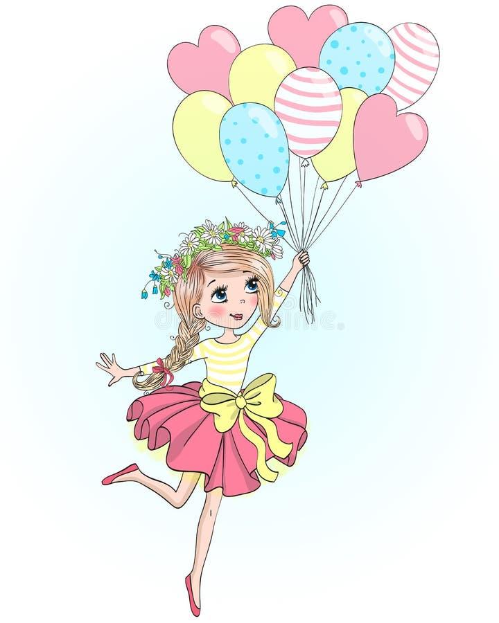 Апреля, открытка своими руками девочка держит шарики