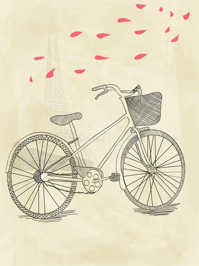 Download Hand Drawn Bicycle Royalty Free Stock Photo - Image: 21199525