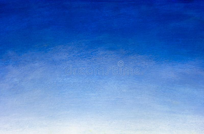 Hand drawn blue gradient Watercolor painting. Blue sky natural background. royalty free illustration