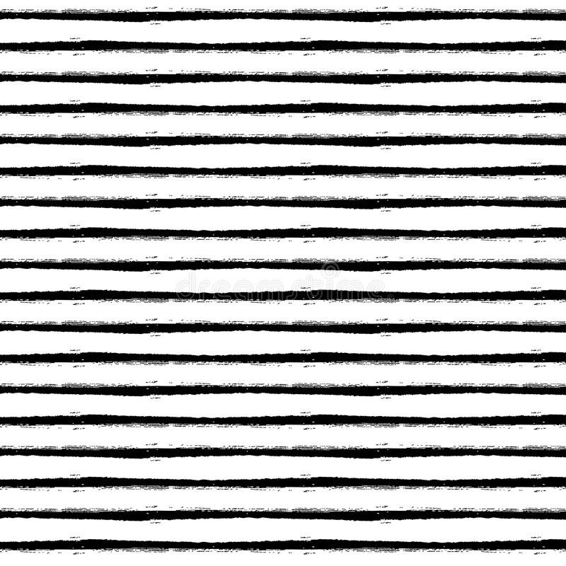 Hand Drawn Brush Stroke Striped Pattern stock photography
