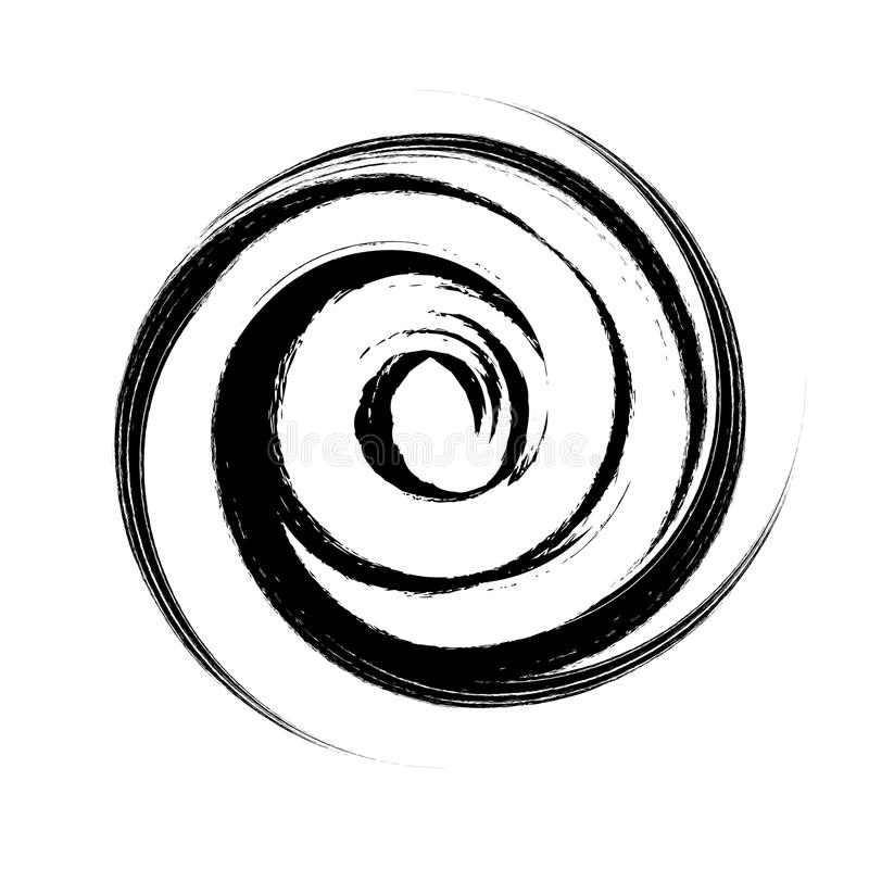 hand drawn with brush swirl spiral stock vector illustration of rh dreamstime com spiral vector art spiral vector yamamura