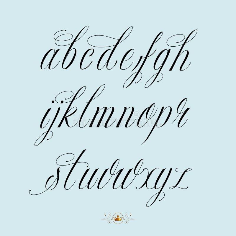 Hand drawn calligraphy alphabet stock vector