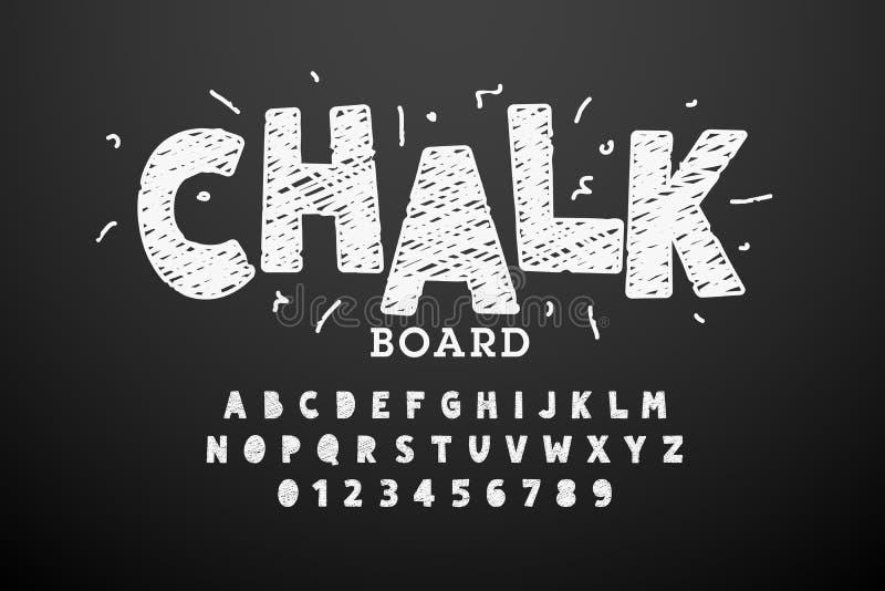 Hand drawn chalk font. Vector illustration vector illustration