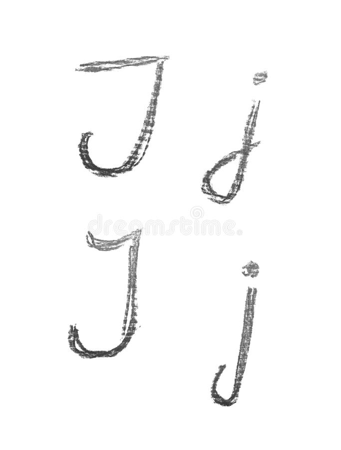 Hand Drawn Letter Set Isolated Stock Illustration