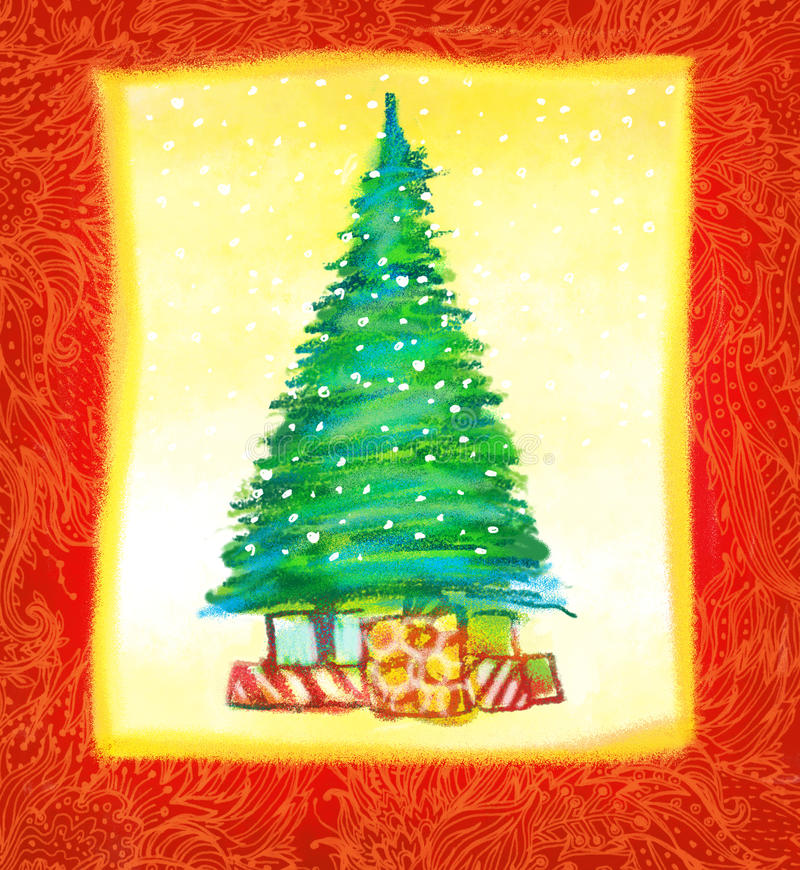 Download Hand Drawn Christmas Card Design Stock Illustration - Image: 21028101