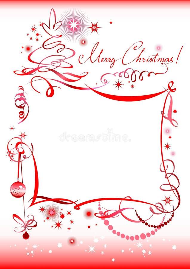 Hand Drawn Christmas Greeting Stock Image