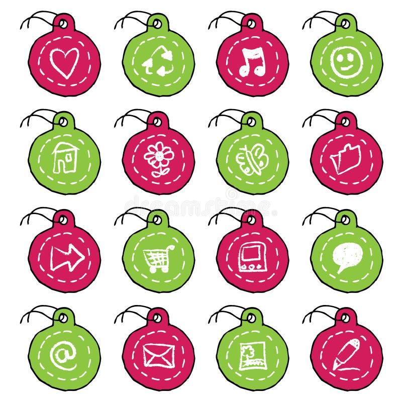 Download Hand Drawn Circle Tag Icons, Set 1 Stock Vector - Image: 10492294