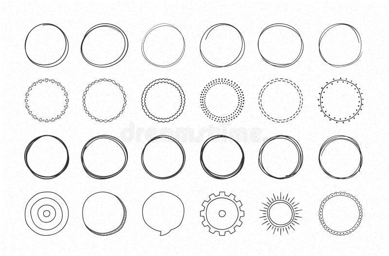 Hand Drawn Circles vector illustration