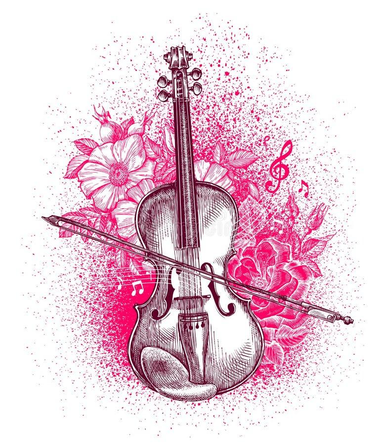 Скрипка рисунок