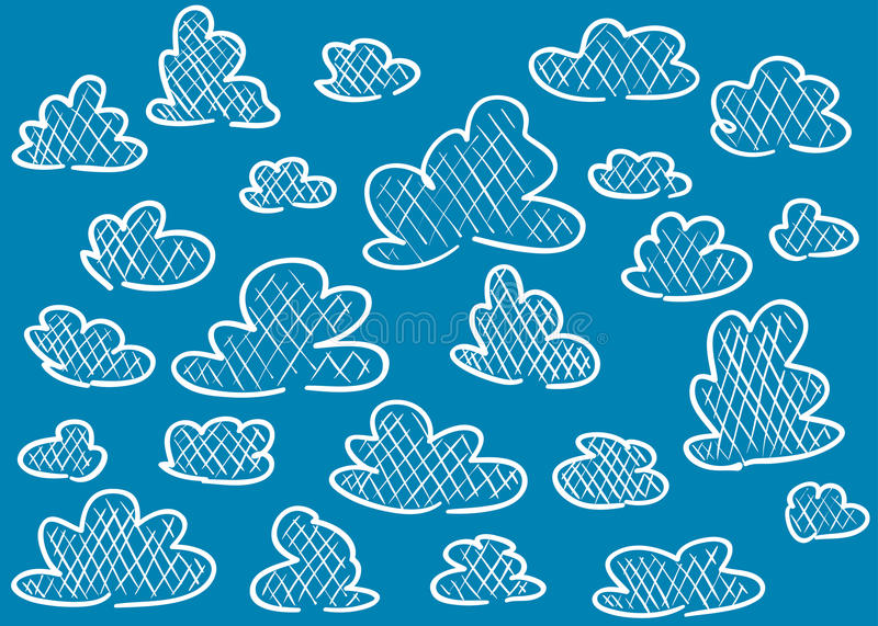 Download Hand drawn clouds stock vector. Image of talk, vector - 29436023