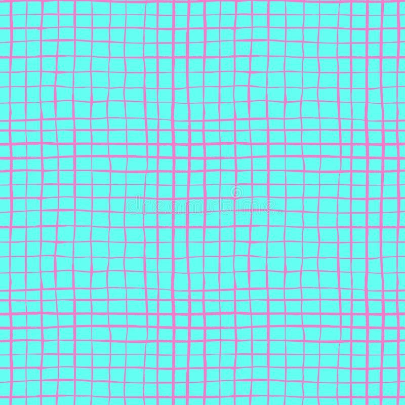 Hand Drawn Colorful Plaid Pattern stock photos