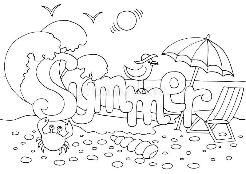 Summer Sun Coloring Page Stock Illustrations – 10 Summer Sun