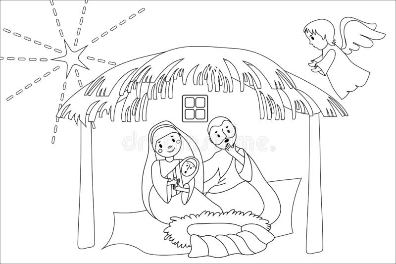 Christmas Nativity Scene Coloring Page Stock Illustrations 21 Christmas Nativity Scene Coloring Page Stock Illustrations Vectors Clipart Dreamstime