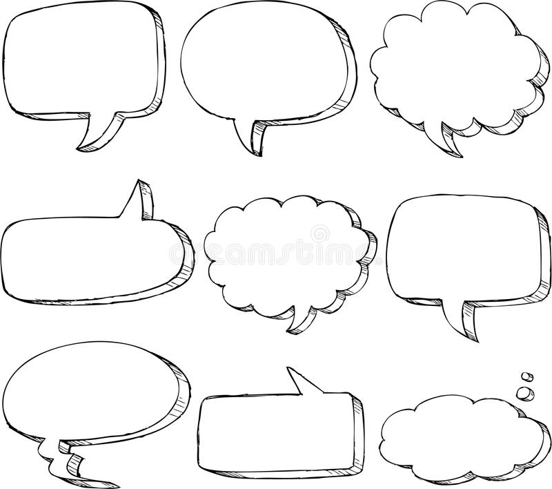 printable speech and toast bubbles