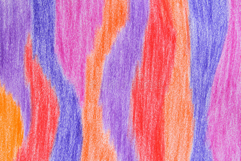 Hand-drawn Crayon Background Royalty Free Stock Photos