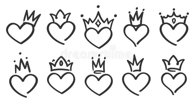 Heart Doodles White Leather Belt