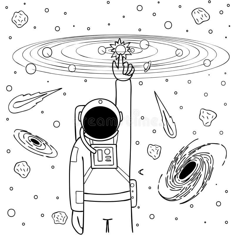 Solar System Coloring Stock Illustrations – 181 Solar System ...