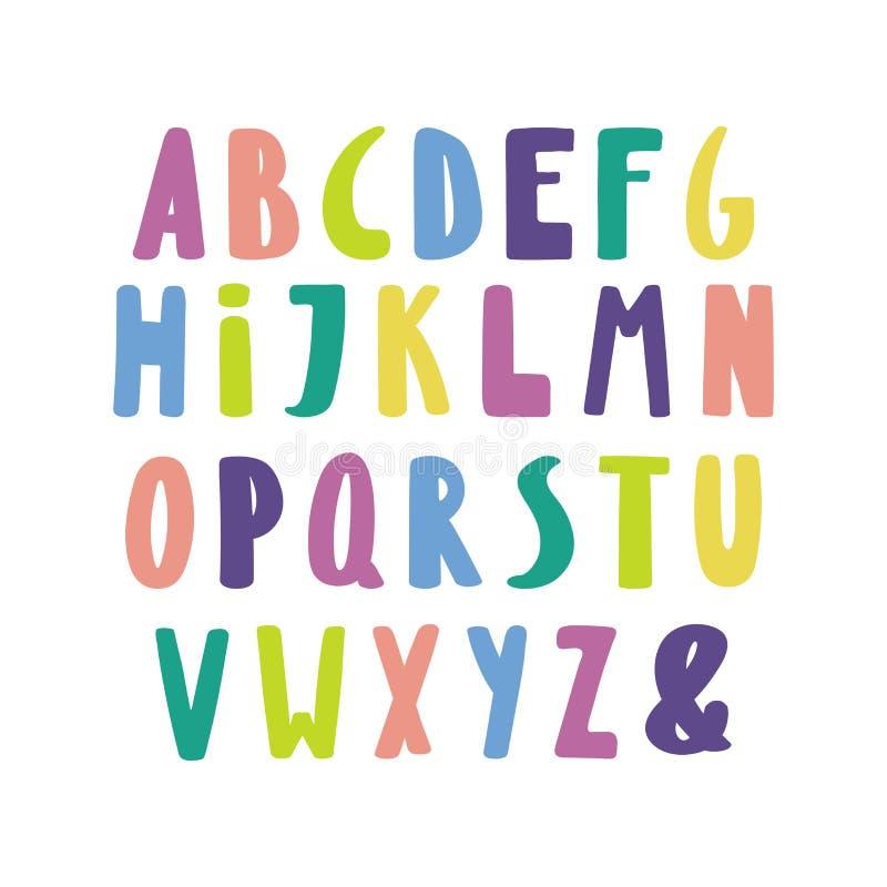 Cute latin alphabet royalty free illustration