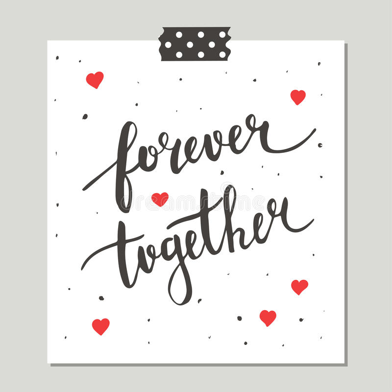 Hand Drawn Cute Card With Love Design. vector illustration