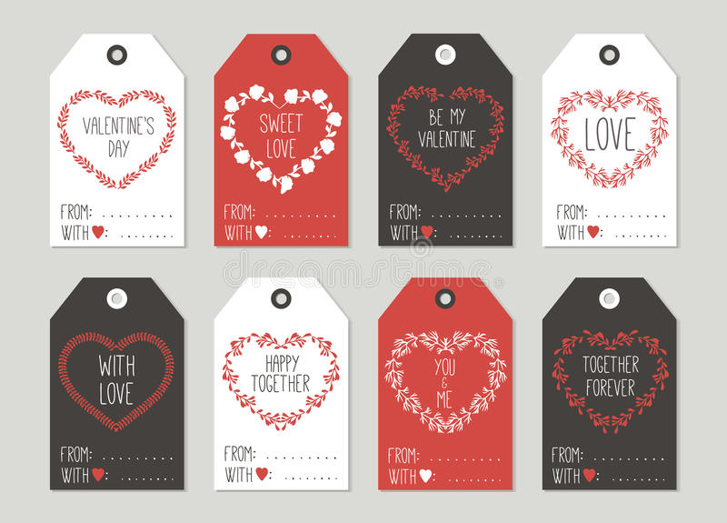 Hand Drawn Cute Card With Love Design. Perfect for valentines day, birthday, save the date invitation vector illustration