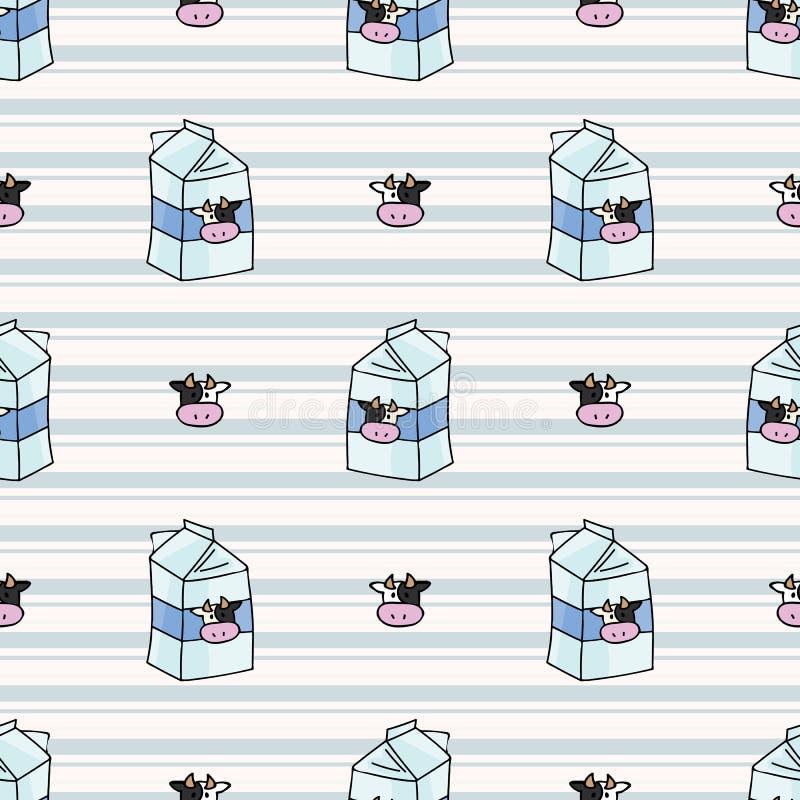 Cute Cow Milk Cartoon Vector Illustration Motif Set Stock Vector Illustration Of Mammal Animal 138560069