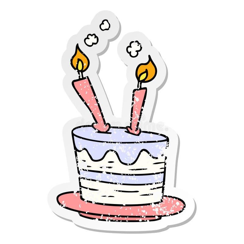 Cartoon Birthday Cake Food Celebration Free Hand Drawn Doodle Clip ...