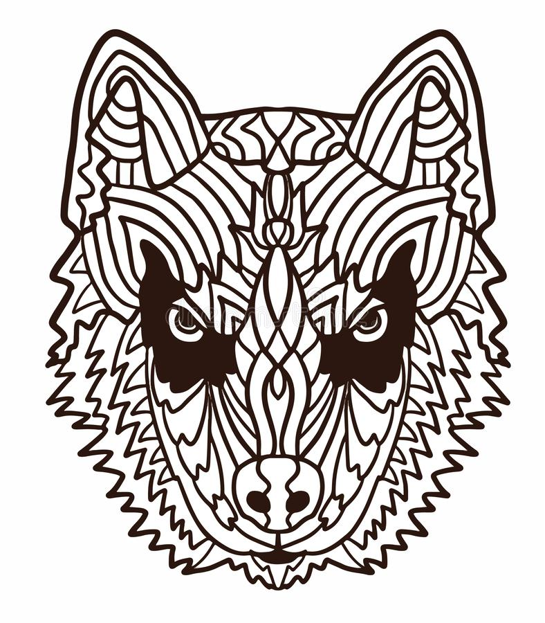 - Hand-drawn Dog Husky With Ethnic Floral Doodle Pattern. Coloring Page -  Zendala, Design For Relaxation And Meditation Stock Vector - Illustration  Of Line, Funny: 141239617