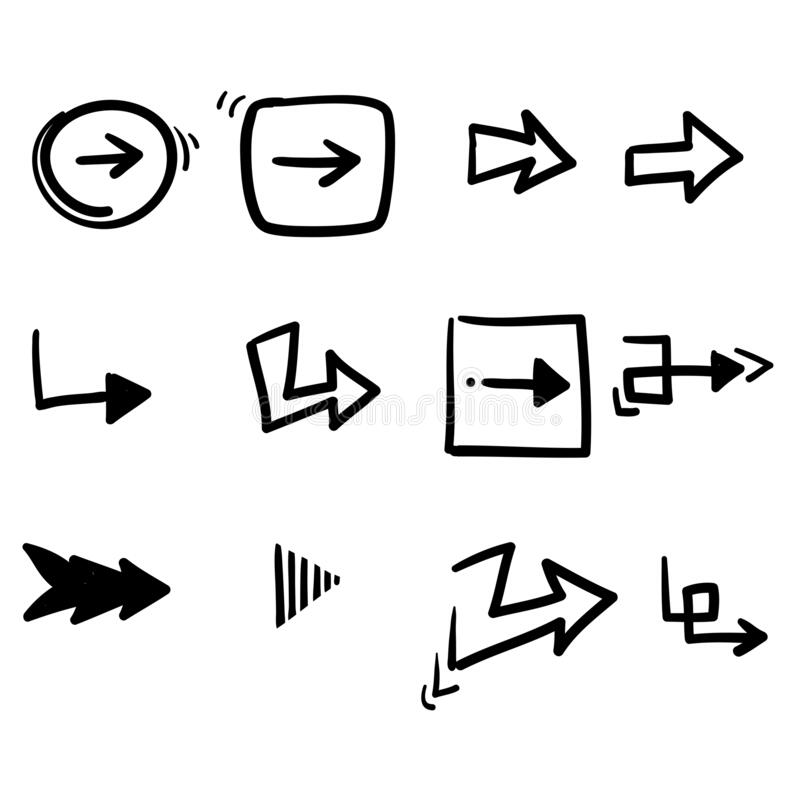 Free Hand Drawn Doodle Arrow Collection Icon Vector Royalty Free Stock Photos - 192639258