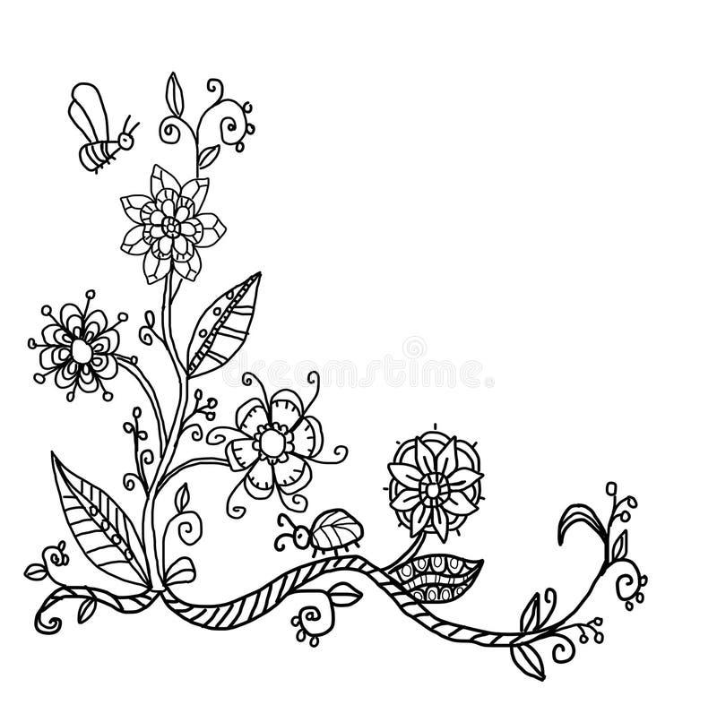Hand Drawn Doodle Corner Frame Stock Photo - Illustration of doodle ...