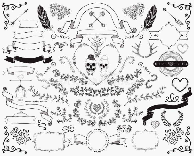 Hand drawn doodle design elements stock vector illustration of download hand drawn doodle design elements stock vector illustration of festive foliate junglespirit Images