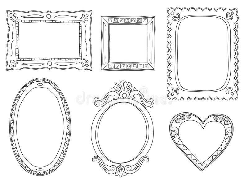 Hand-drawn doodle frames stock vector. Illustration of girly - 26652514