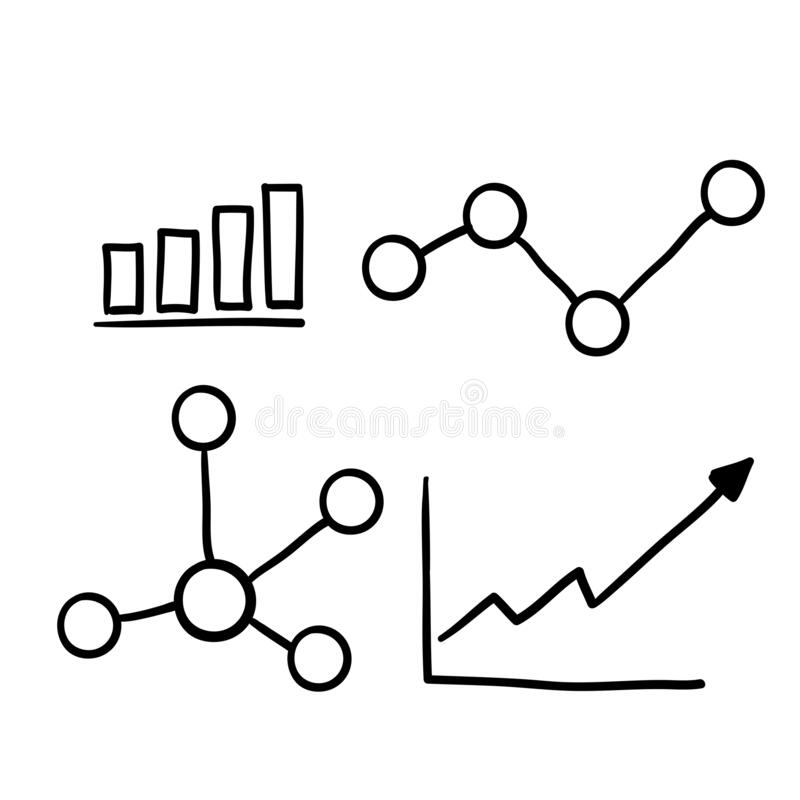 Free Hand Drawn Doodle Graph Illustration Vector Line Style Royalty Free Stock Images - 192639579