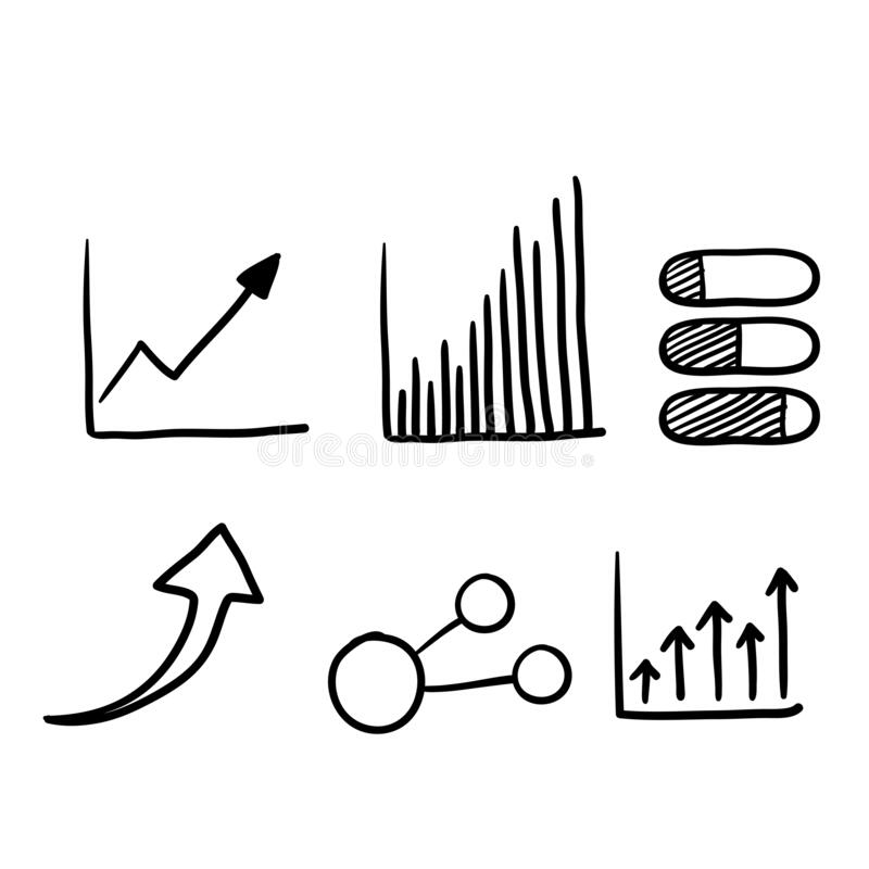 Free Hand Drawn Doodle Graph Illustration Vector Line Style Stock Photos - 192639593