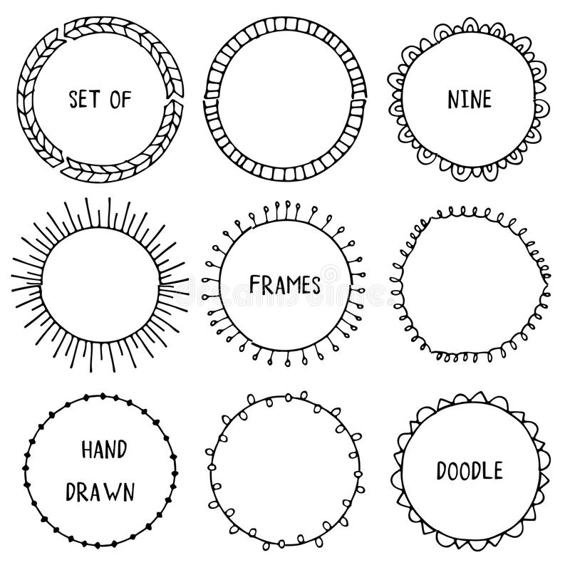Hand Drawn Doodle Ornamental Frames. Vector Stock Vector ...