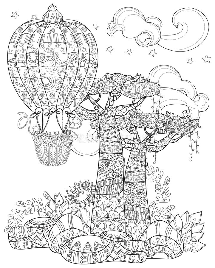 Free Hand Drawn Doodle Outline Tree Decorated Royalty Free Stock Image - 71852426