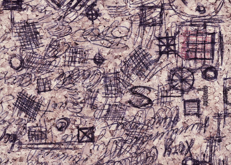 Hand drawn doodle pattern. Made by me on cup mat near my laptop during my brainstorm process vector illustration
