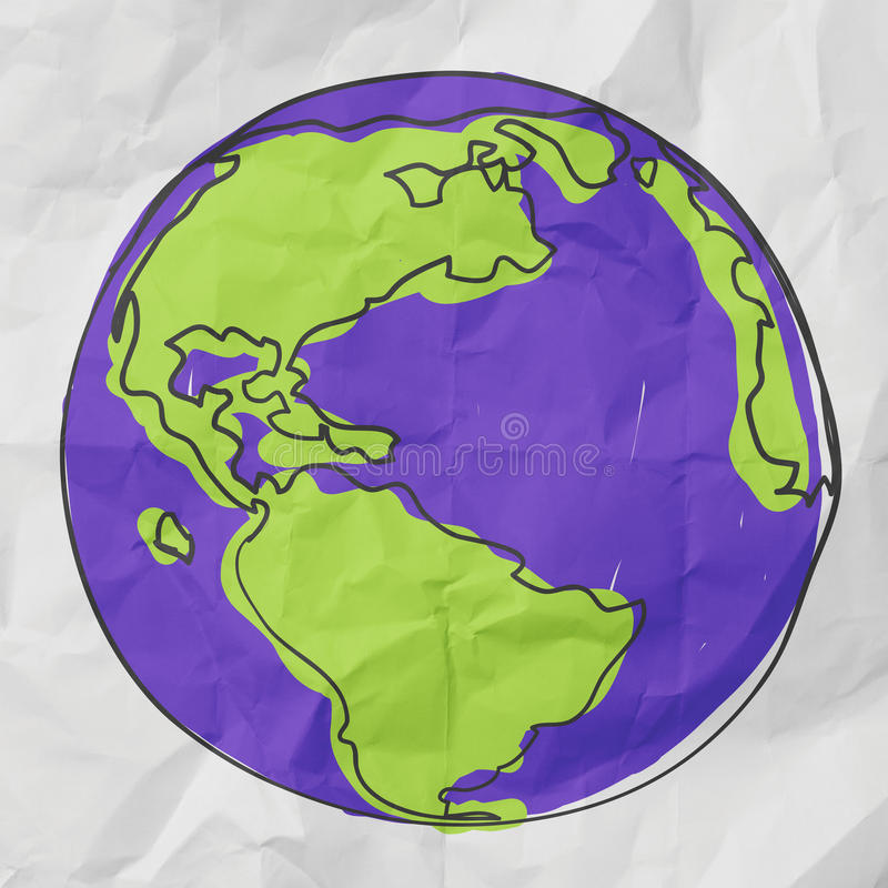 Hand drawn the earth vector illustration