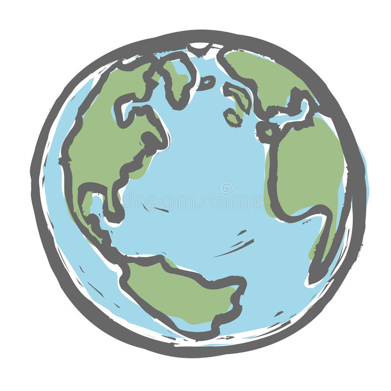 hand drawn earth stock vector illustration of concept 30154167 rh dreamstime com earth vector psd earth vector free