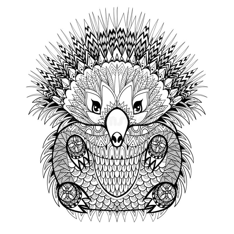 Free Hand Drawn Echidna, Australian Animal Illustration For Antistres Stock Photos - 58750533