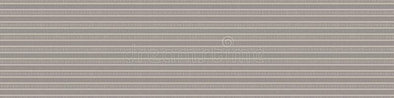 Hand drawn ethnic horizontal stripe seamless border pattern. Modern lines hand drawn in homespun brown, gray, ecru neutral tones. Stationery zakka craft washi vector illustration
