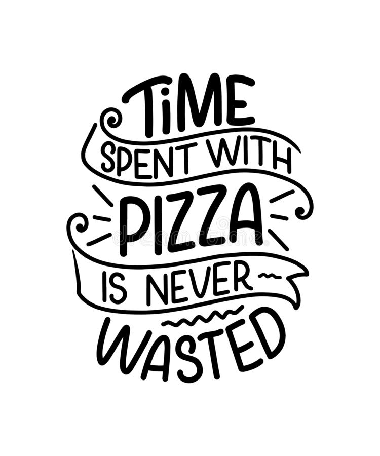 Free Hand Drawn Ettering Quote About Pizza. Typographic Menu Design. Poster For Restaurant Or Print Template. Funny Concept. Vector Stock Images - 164551224