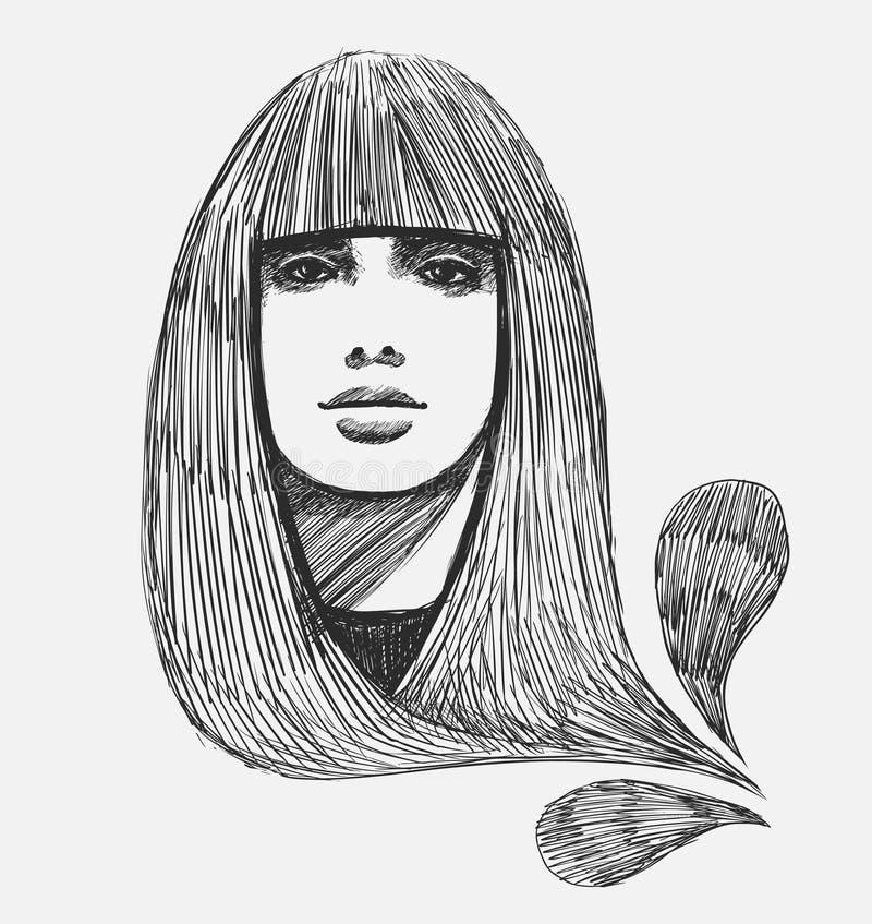 Download Hand drawn fashion model stock vector. Illustration of human - 12148364