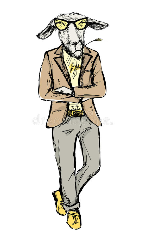 Free Hand Drawn Fashion Portrait Of Donkey Hipster Isolated On White Royalty Free Stock Photo - 86433215