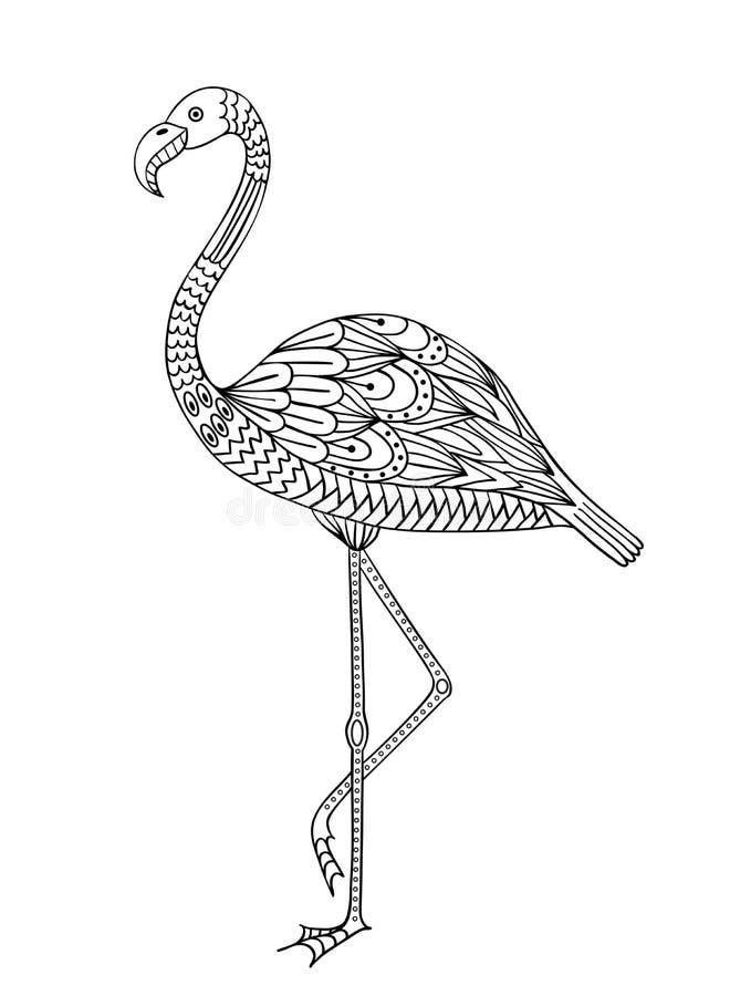 Hand drawn flamingo stock illustration