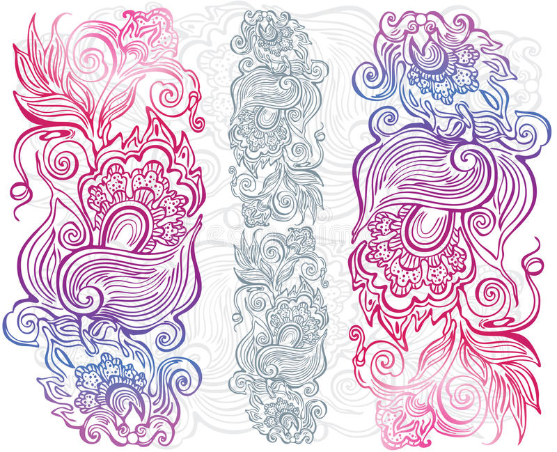 Download Hand drawn floral ornament stock vector. Illustration of silhouette - 23191011