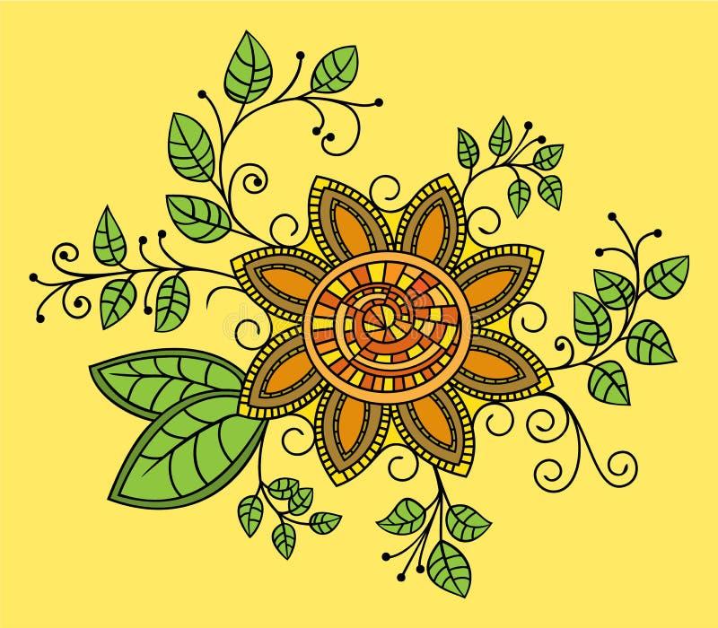 Hand drawn flower stock illustration